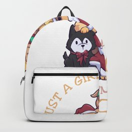 Just A Girl Who Loves Dogs Christmas Backpack