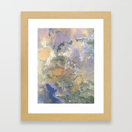 Fluid Purple Framed Art Print