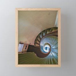 Spiral Staircase in the Old Lighthouse Framed Mini Art Print