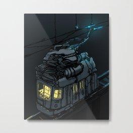 The Midnight Trolley Metal Print
