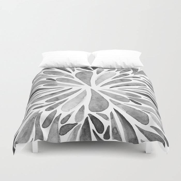 Symmetric drops - black and white Bettbezug