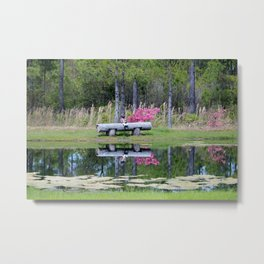 Fishing At The Pond Metal Print