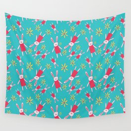 Bunnies 'n' Daisies Wall Tapestry