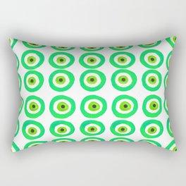 Evil Eye Amulet Talisman in Green Rectangular Pillow