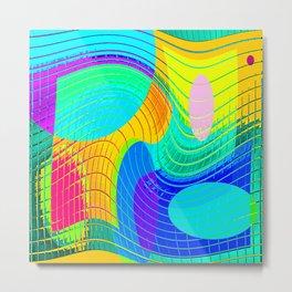 Re-Created Function f(x) No. 16 by Robert S. Lee Metal Print