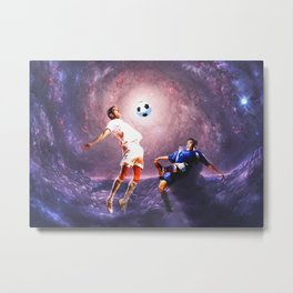 Football in the universe Metal Print