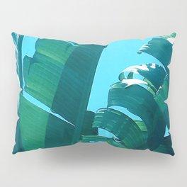 Gorgeous Palm Leaves in Vibrant Blue, Blue Sky Pillow Sham