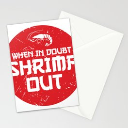 When In Doubt Shrimp Out Funny Jiu Jitsu MMA Gift design Stationery Cards
