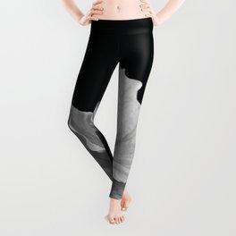 Hibiscus Drama - Black and Grey Leggings