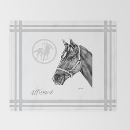 Affirmed (US) Thoroughbred Stallion Throw Blanket
