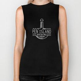 Pen Island Brewing Company Wire Frame Logo Reverse Biker Tank