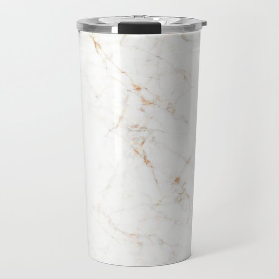 White Marble with Delicate Gold Veins by artz_onsociety