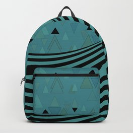 Dark turquoise , combined patchwork Backpack