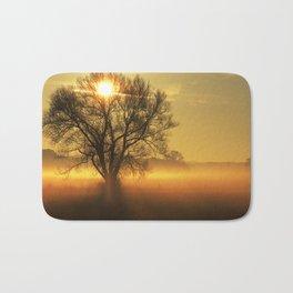 Autumn Dream with fog and sun Bath Mat
