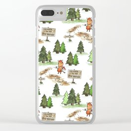 Jersey Devil Welcomes You to the Pine Barrens! Clear iPhone Case