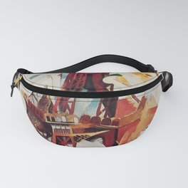 "Robert Delaunay ""Graphic Champs de Mars: The Red Tower"" Fanny Pack"