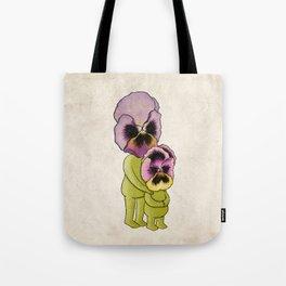 Couple of Pansies Tote Bag