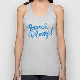 Beach Please Unisex Tank Top