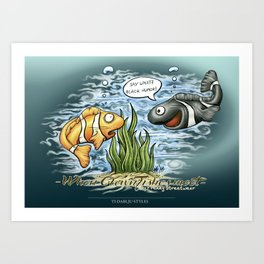 When Clownfishes meet Art Print