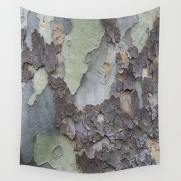 sycamore bark with a green tinge Wall Tapestry