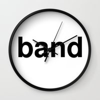 band Wall Clocks featuring band by linguistic94
