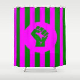 feminist fist logo Shower Curtain