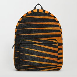 Yellow / Black - Geometric Backpack