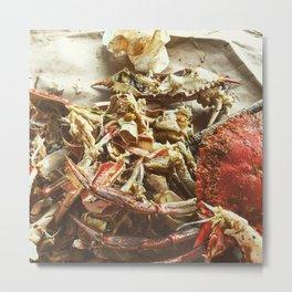 Crab Pickin Metal Print