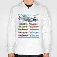 formula 1 Hoodies featuring Formula E Cars by Pleasure Time