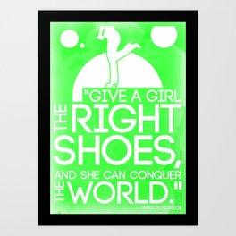 Give A Girl Art Print