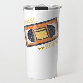 Please Rewind VHS Player Viedo Home Recorder Casette Machine Tapes Gift Travel Mug