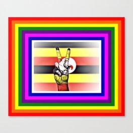 Uganda World Peace Flag Canvas Print