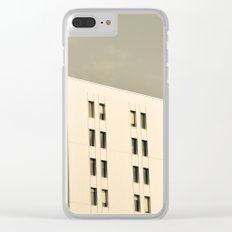 Modern Minimal Cityscape Clear iPhone Case
