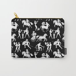 Greek Figures // Black Carry-All Pouch