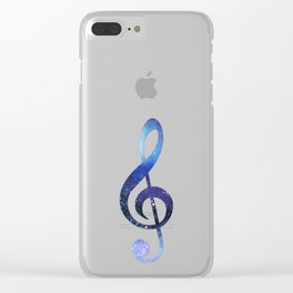 Treble clef Clear iPhone Case