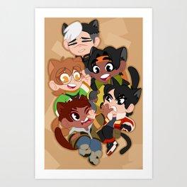 Meowtron Art Print