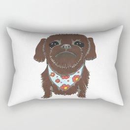 Pedicure Puppy Rectangular Pillow