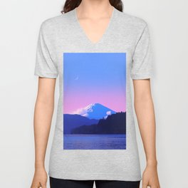 Mount Fuji Sunrise Unisex V-Neck