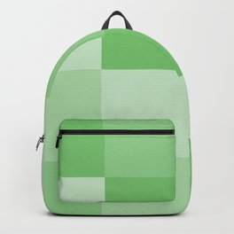 Four Shades of Green Square Backpack