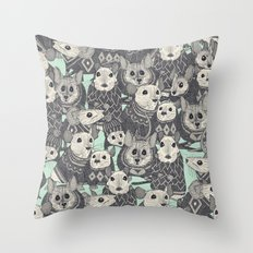 sweater mice mint Throw Pillow