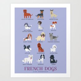 FRENCH DOGS Art Print