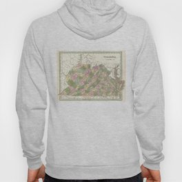 Vintage Map of Virginia (1838)  Hoody