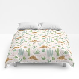 Armadillos in the Desert - Watercolor Comforters