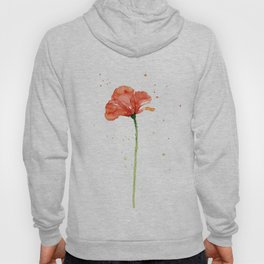 Abstract Red Poppy Flower Hoody