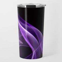 Smoke creation in cardinal purple tones Travel Mug