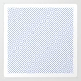 Mini Alice Blue and White Candy Cane Stripe Art Print