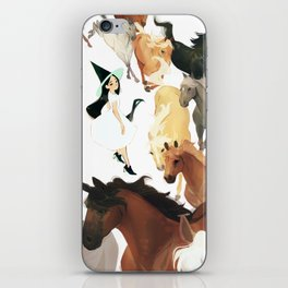 horse witch iPhone Skin
