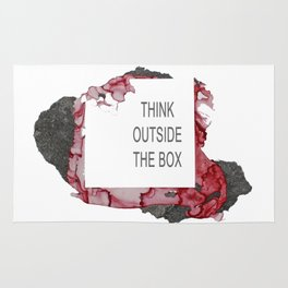 Think Outside The Box - Red Rug