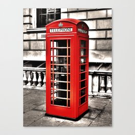 Seedy Whitehall Phonebox Canvas Print