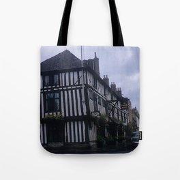 Vintage England Art Print * Kodachrome * 1950's * Falcon Hotel * Stratford * European Photography Tote Bag